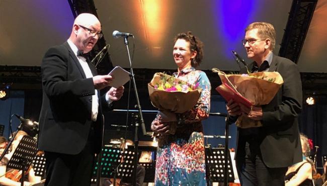 Erik Viborg, Anne-MarieWaage-Petersen og Mogens Pedersen (Teatret OM)