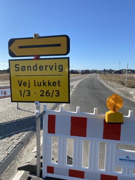 Søndervig Landevej lukket